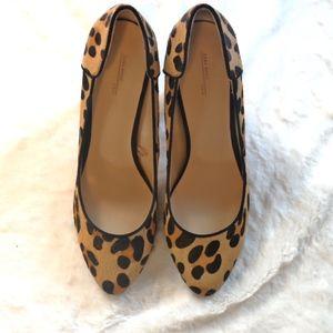 Zara Leopard Round Toe High Heel Shoes